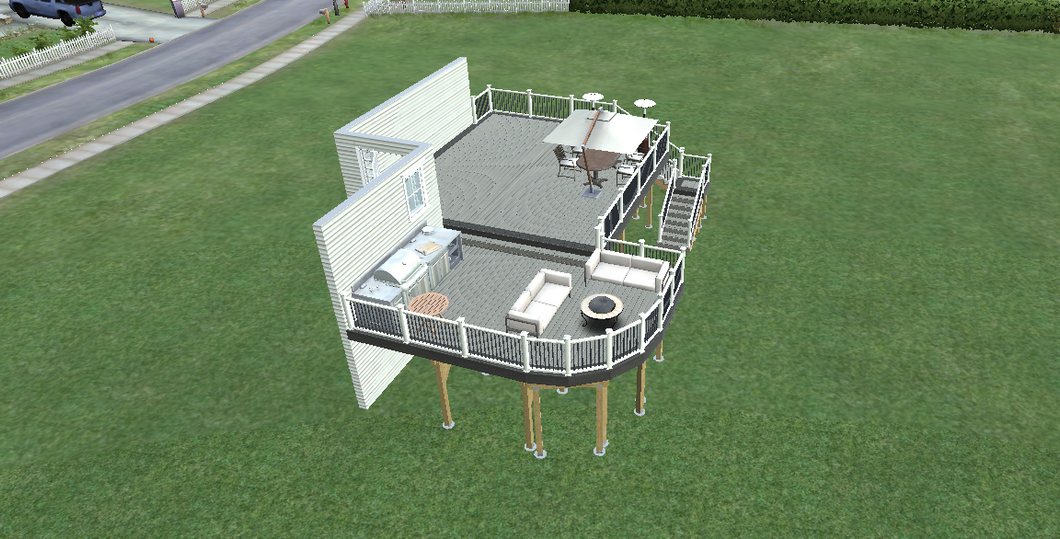 elevated composite deck design