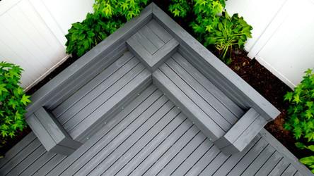 Custom build in deck bench