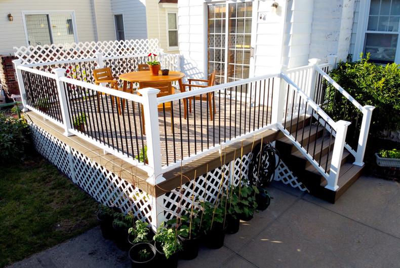 backyard small deck addition