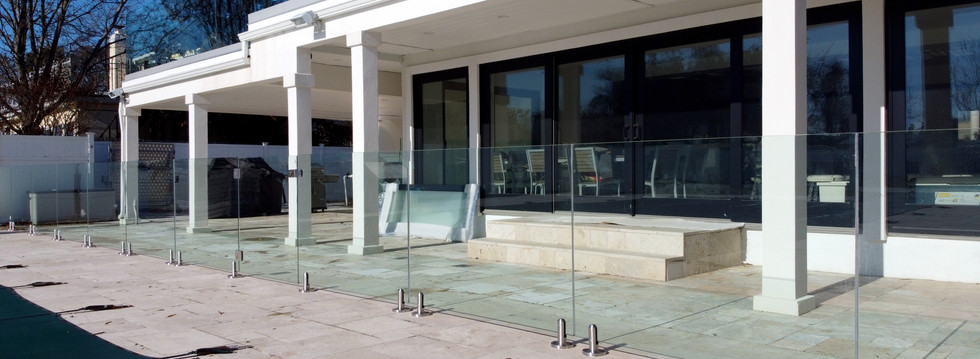 Second Floor Terrace with Glass Railings