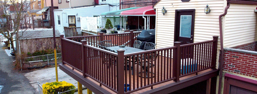 Elevated Fiberon Deck Addition