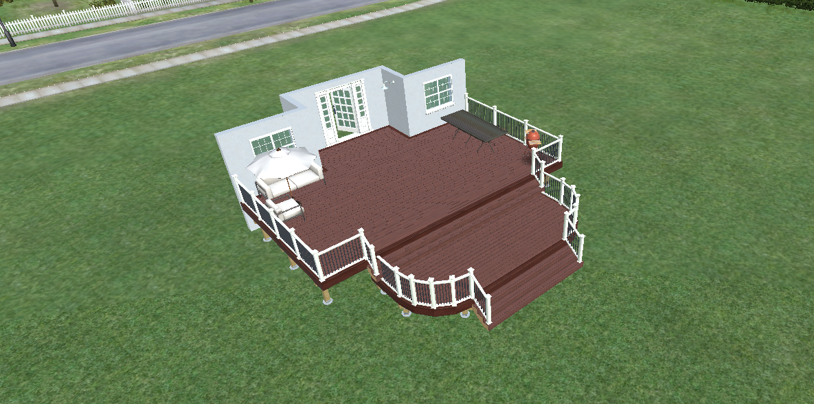 extended stairs deck design