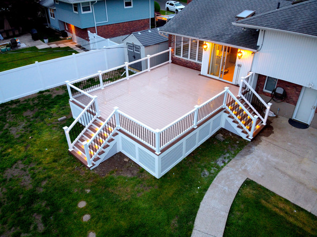 Family Size Deck Addition