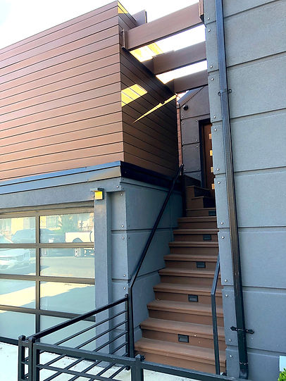 Compsite Siding and Stairs build by StarTouchNYC