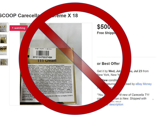 Never Buy CareCella on EBay or Amazon!