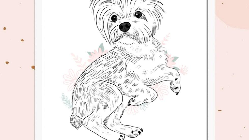 Mascotas Line Art