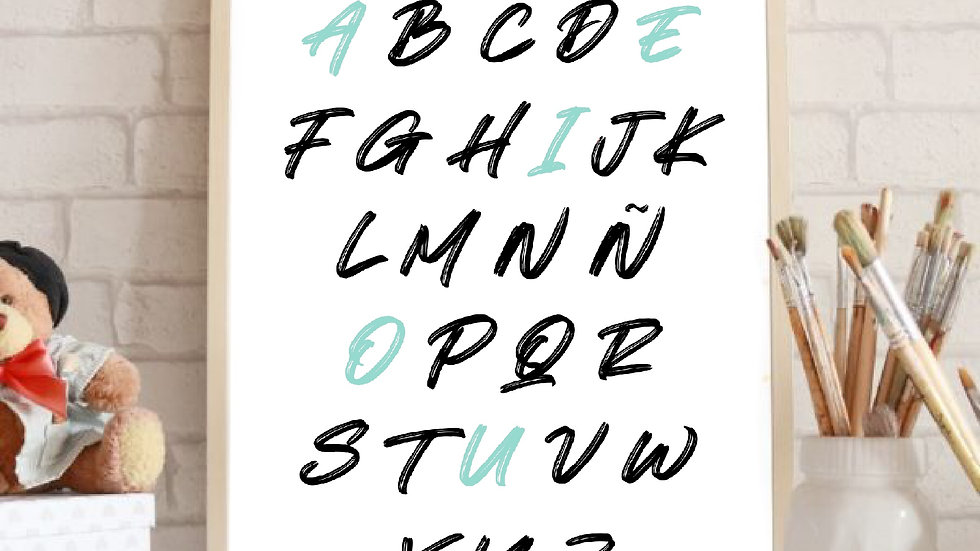 Lámina abecedario Mayúsculas