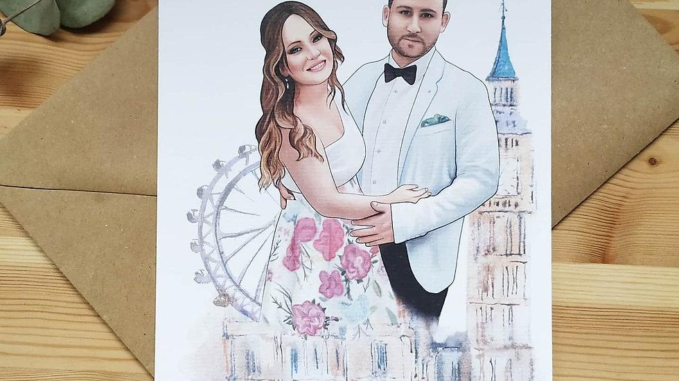 Invitación de boda modelo Color Doble cara