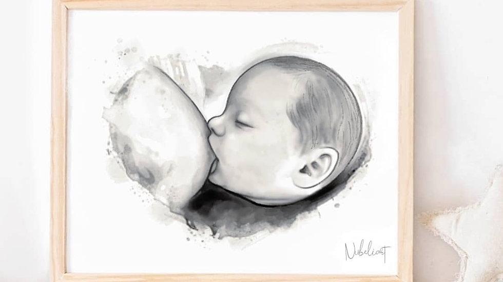 Lámina Lactancia Materna