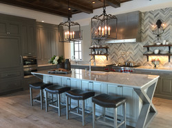 Contemporary kitchen with metal and gray accents