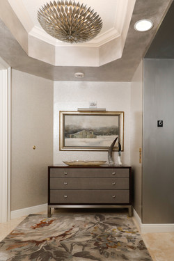 Luxury entryway with tray ceiling