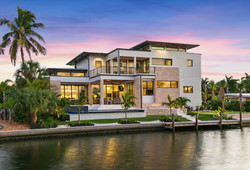Luxury midcentury modern style home on the water