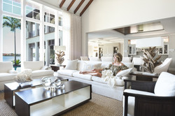 Woman relaxing in an elegantly styled room