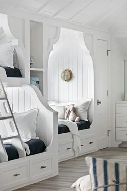 Closeup of kids' bunk bed design elements