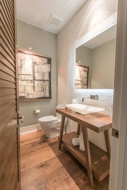 Elegant, modern coastal bathroom design