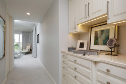 Master bedroom hall with jewelry armoire detail