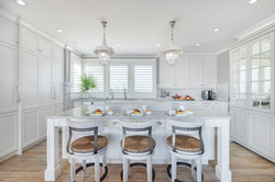 Luxury kitchen in all white and natural tones