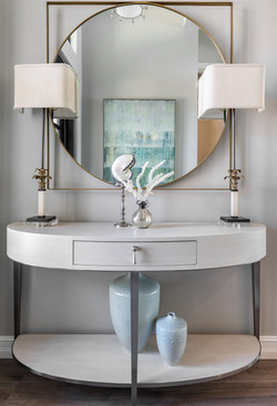 Entryway console table and mirror