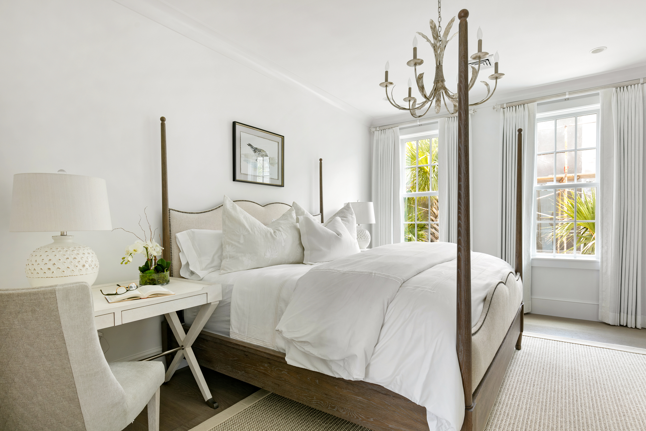 Guest bedroom in neutral tones
