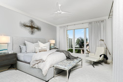 Master bedroom in whites and greys