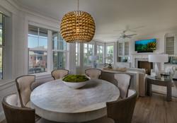 Modern coastal living/dining room