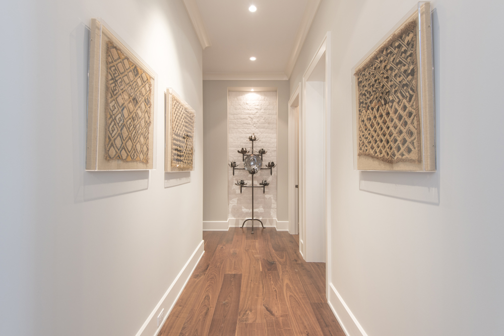 Hallway shot with modern eclectic design features