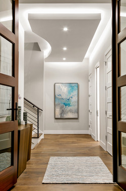 Luxury home entryway and hall