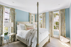 Guest bedroom with coastal accents