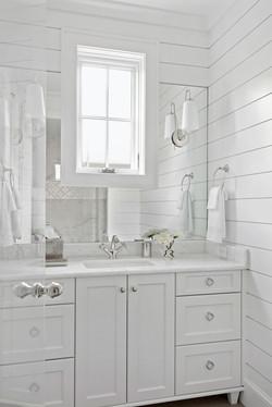 All white bathroom with coastal elements