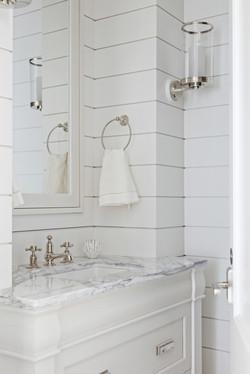 Shiplap bathroom detail