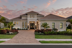 Luxury custom home in beige tones