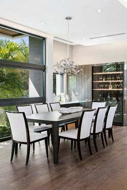 Luxury dining room with modern furnishings