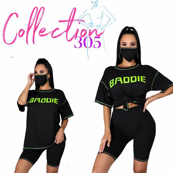 Baddie Short Set w/Mask