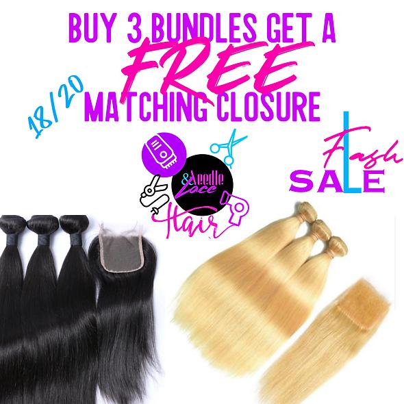 Buy 3 Bundles FREE Closure
