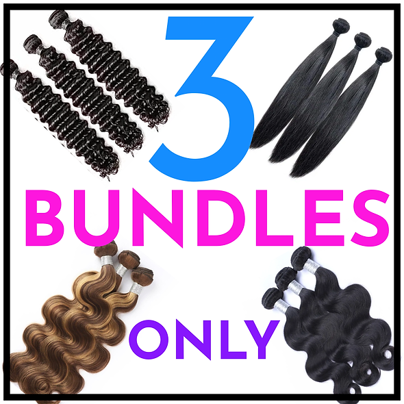 """3 Bundles Only (up to 24"""")"""