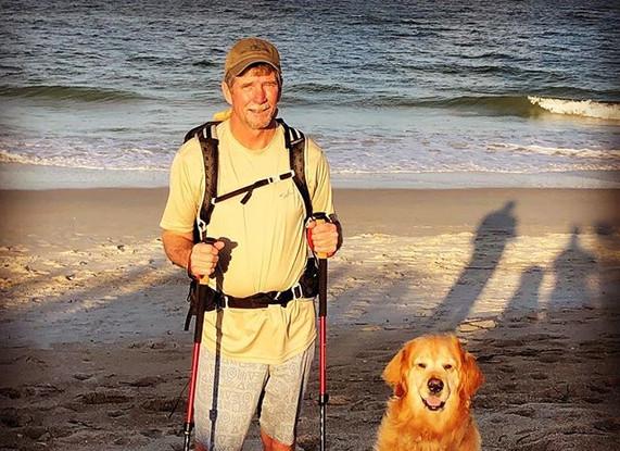 Beach walk with the Murph Man #nsb #murp