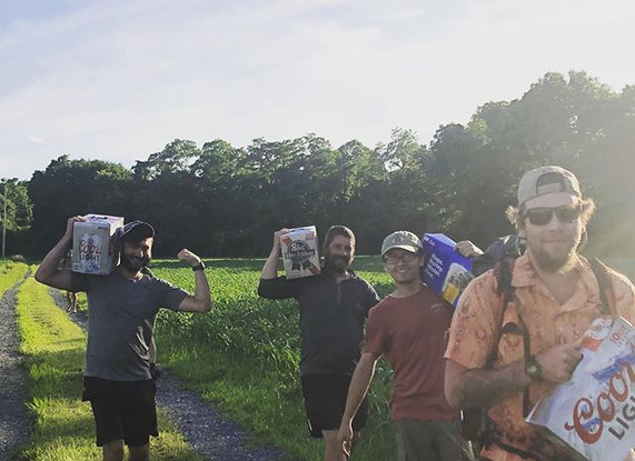 Haulin in necessary 30 pack hiker surviv