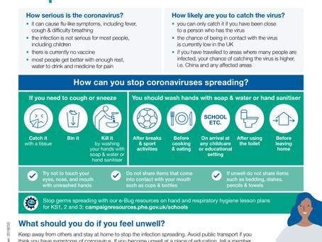 Update Coronavirus