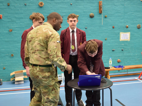 Army Royal Signals & Adjutant General Corps visit Eggbuckland
