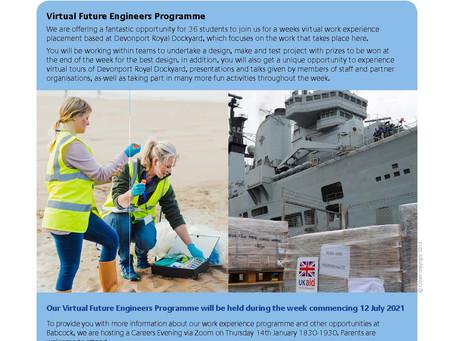 Virtual Future Engineers Work Experience 2021
