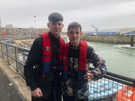 Year 10 Students Meet the Marines