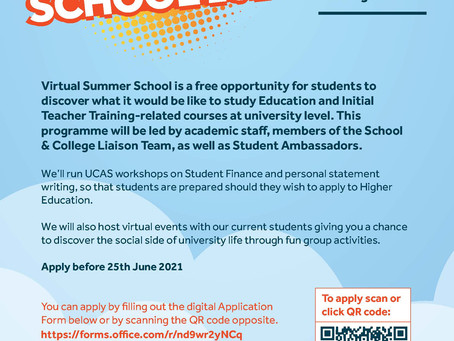Virtual Summer School Opportunity for current Year 12 students