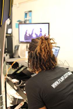 Director on set