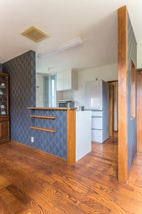収納充実。お手入れ簡単。そんな理想のキッチンをご提案!|リフォームの施工事例|キッチン