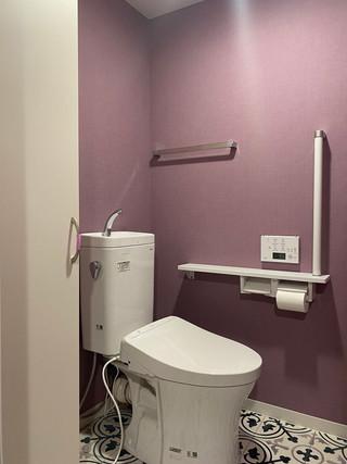 洗面とクロスをお揃いでリフォーム トイレ