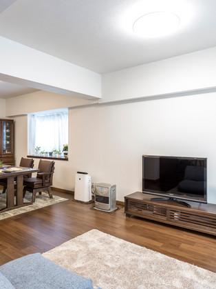 和室×洋室の2部屋を間取り変更して、広いLDKにリフォーム|リフォームの施工事例|リビング