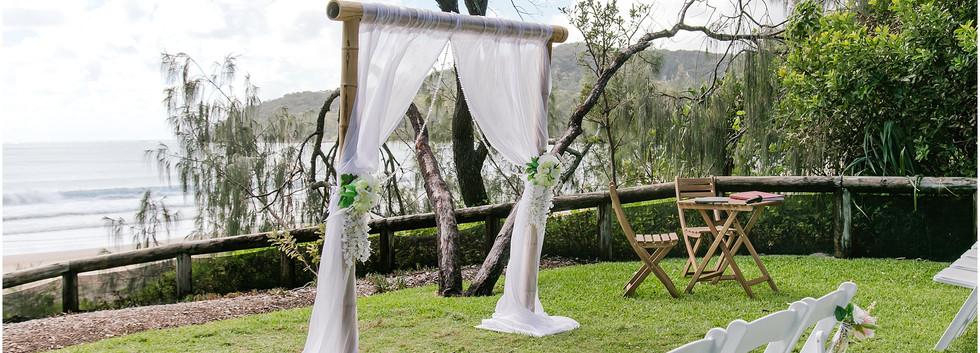 2 post bamboo wedding arbour