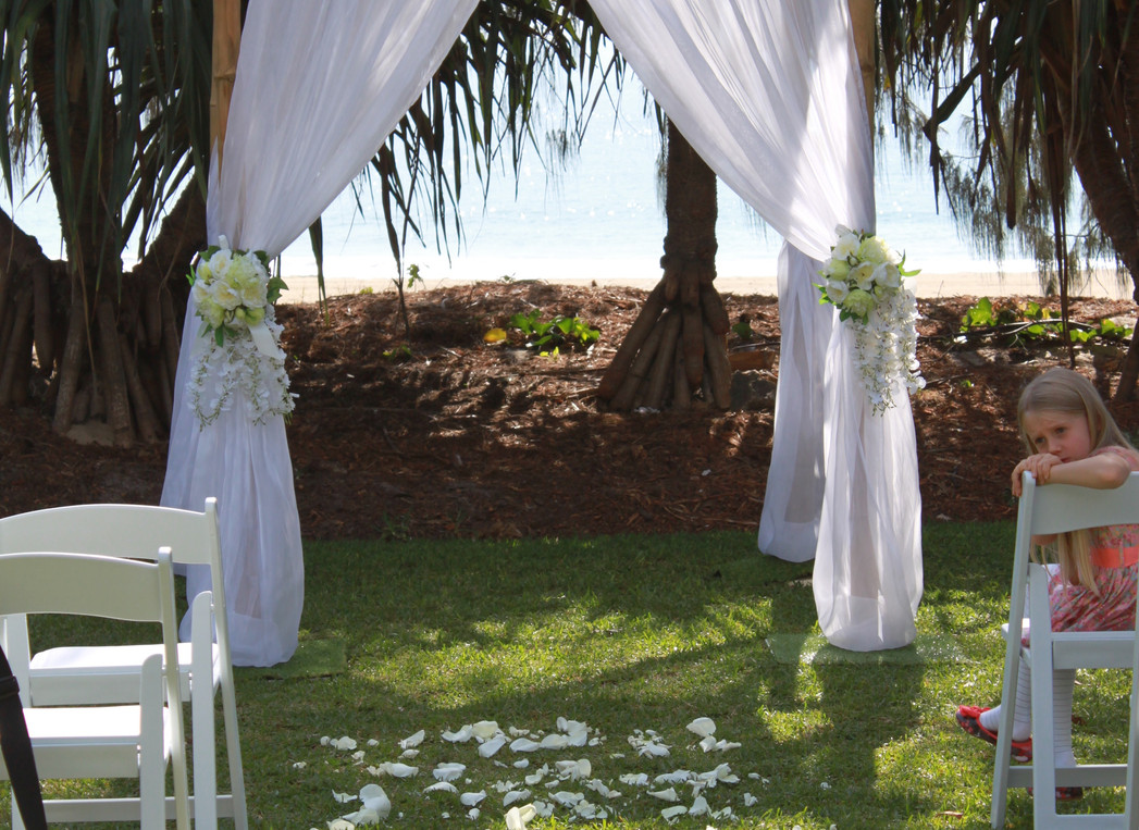 4 post bamboo wedding arbour