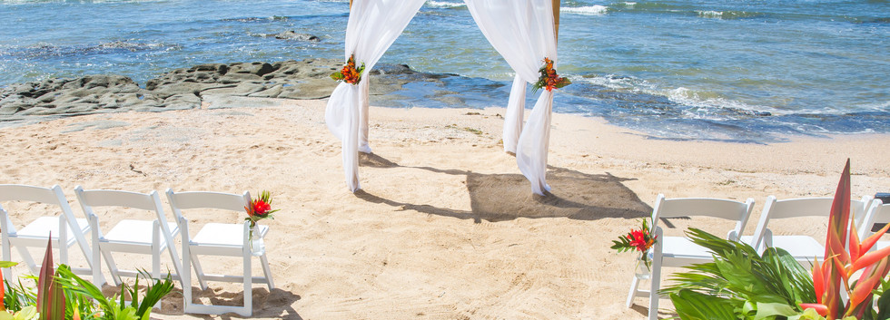 Tropicana 4 post wedding arbour