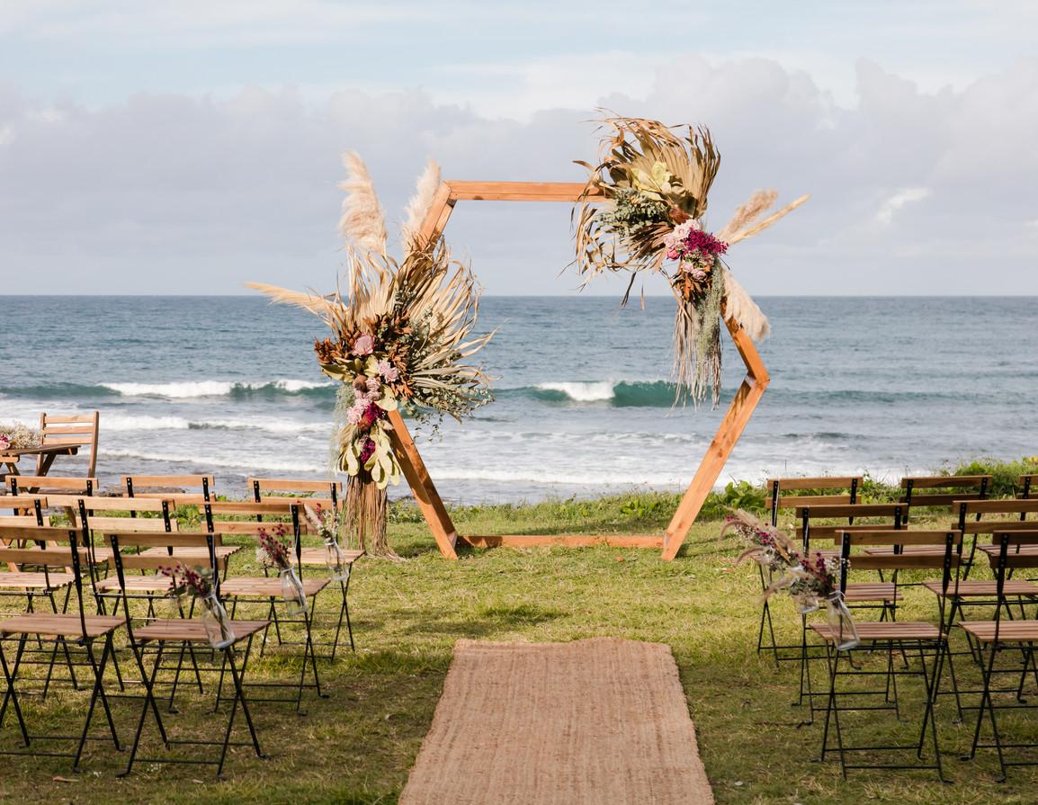 Hexagon wedding ceremony